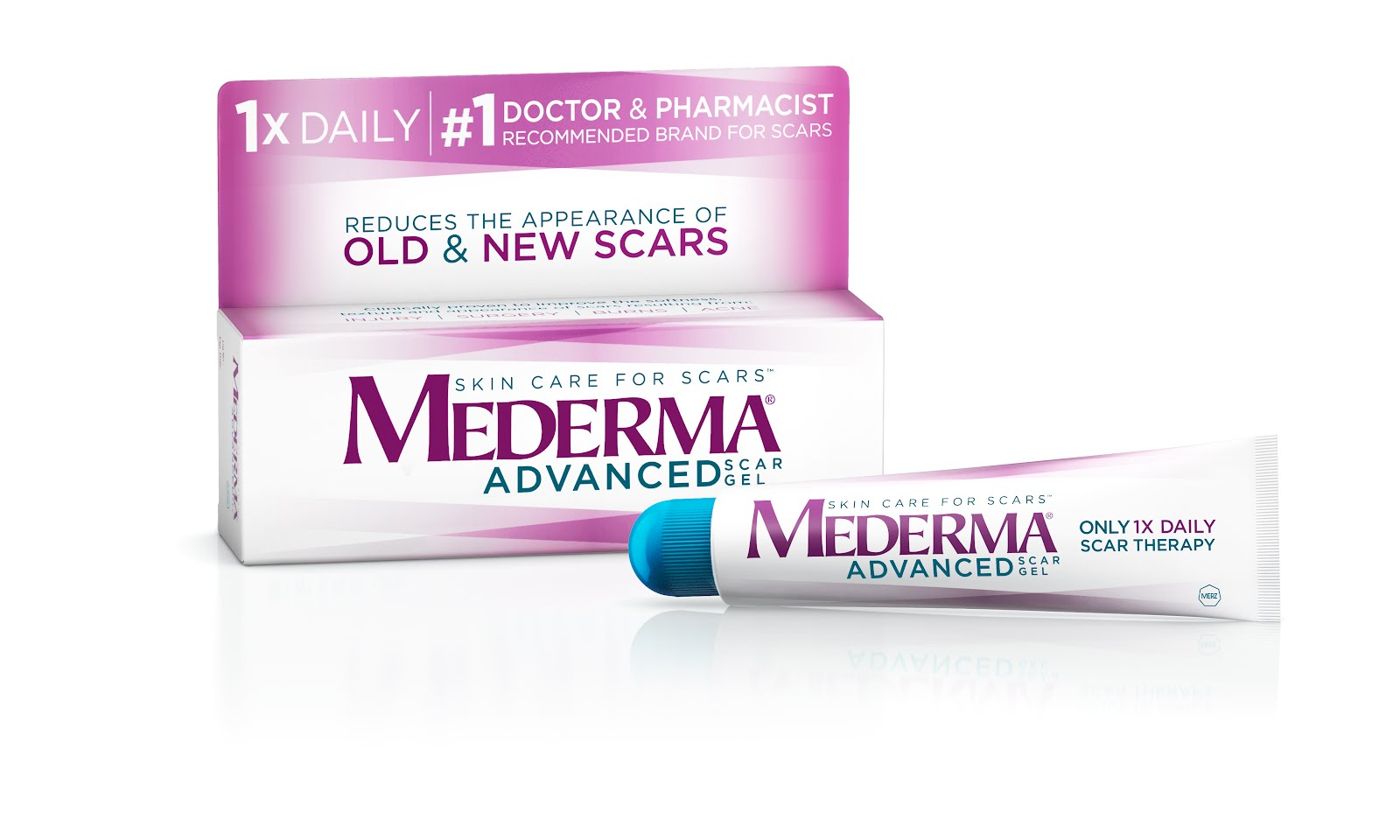 New Mederma Advanced Scar Gel Reduces The Appearance Of Scars